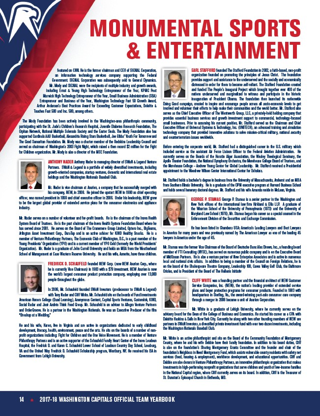2017-18 Washington Capitals Yearbook - Page 16