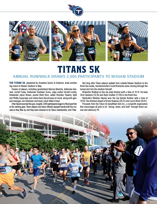 7195ffe2 TITANS 5K ANNUAL RUN/WALK DRAWS 2,000 PARTICIPANTS TO NISSAN STADIUM THE  TITANS 5K, presented by Academy Sports & Outdoors, drew another big crowd  at Nissan ...
