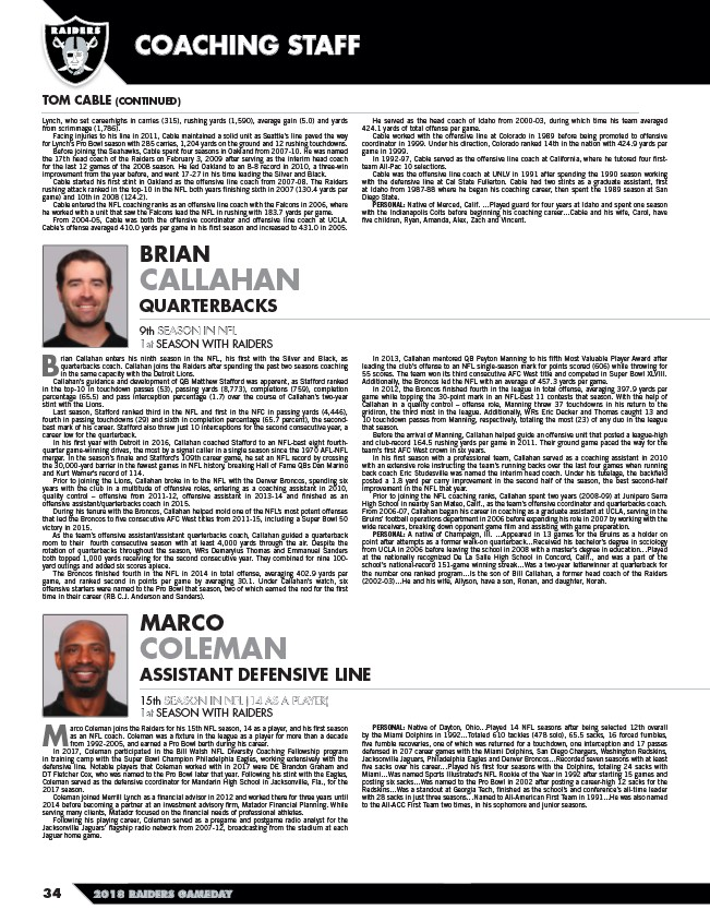 2018 Oakland Raiders Gameday 1 Page 36