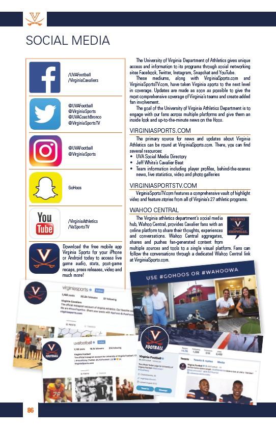 2018 University of Virginia Football Gameday 1 - Page 88