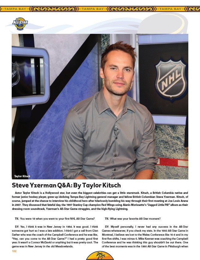 Taylor Kitsch Junior Hockey