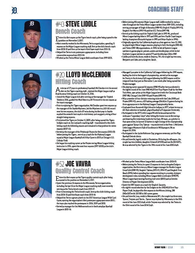 2018 Detroit Tigers Yearbook - Page 17